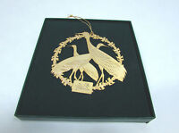 Vintage Collectible Gold Tone The Nature Conservatory Christmas 1988 Ornament