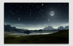 LED Lighted Sunset Mountains Canvas Wall Home Décor Picture Art  70 x 50cm