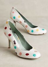 NEW $250 Anthropologie Polka Dotted Pumps Heels Size 37