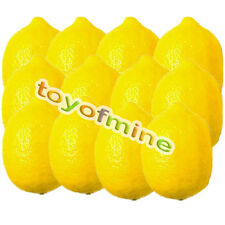 12 pcs Lemon Artificial Fruit Fake Theater Prop Staging Home Decor Faux Lemons
