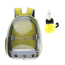 Outdoor Travel Parrot Carrier Backpack w/ Water Feeder Cup& Cat Ring Pendant
