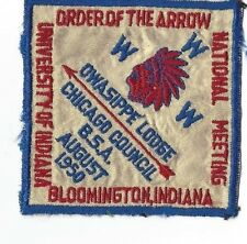 OA Lodge 7 Owasippe Sewn Patch National Meeting Chicago Area Council (GNY193)