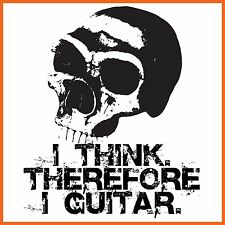 3008 Guitar T-Shirt - I Think Therefore I Pholea T-Shirt - X Large - Free Post
