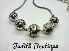 BRIGHTON Silver Ball Bead Necklace