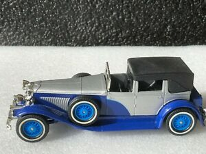 "MATCHBOX MODELS OF YESTERYEAR Y-4 1930 DUESENBERG MODEL ""J"" TOWN CAR CHINA BASE"