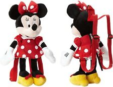 "Disney Minnie Mouse 18"" Plush Backpack Red Dress Doll Figure Stuffed Toy - Red"