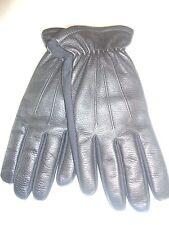 Men's Isotoner Genuine Leather Driving Gloves,Black, M/L Style 5760