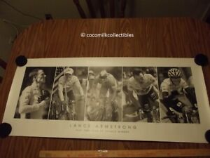 2003 Poster Lance Armstrong Five Time Winner Tour De France Cycling Graham Watso