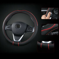 15'' Carbon Fiber Leather Truck Car Steering Wheel Cover Anti-slip Accessories