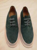 Maison Martin Margiela MM6 Suede Lace-up Block Heels Shoes Green uk 34 eu 37