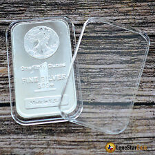 10 Air-Tite Direct Fit Coin Holder Capsule for 1 oz Silver Bar