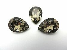 1 Greige Swarovski Crystal Stone Pear 4320 18 x 13