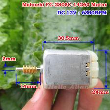 MABUCHI FC-280SC-14260 DC 12V 6800RPM Mini Carbon Brush 280 Motor Worm Shaft DIY