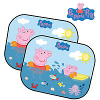 2 Peppa Pig Kids Baby Children Car Window UV Protection Mesh Sun shades Blind