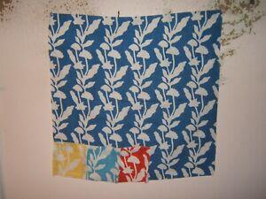 """Ralph Lauren, Cerio Floral, Remnant, 27"""" W X 27"""" L, Color Cobalt Blue"""