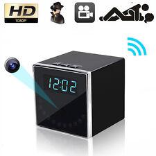 HD 1080P WiFi Hidden Spy Wireless Camera Alarm Clock Home Security Night Vision