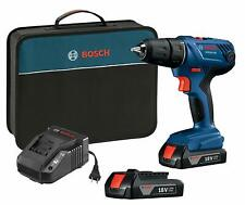 "Bosch 18V Compact 1/2"" Drill/Driver Kit with (2) 1.5 Ah Slim Pack Batteries GSR1"