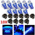10pack T10 168 194 Led Bulbs Instrument Gauge Cluster Dash Blue Light W Sockets