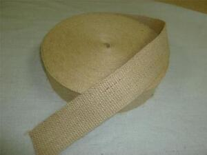 3 metre of HESSIAN JUTE UPHOLSTERY WEBBING ideal for seats & furniture  FREE P&P