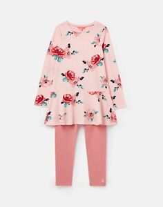 Joules Girls Iona Dress And 3/4 Legging Set  - Pink Floral - 5Yr
