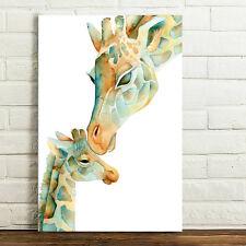 50*75cm Canvas Prints HD Wall Art Picture-Giraffe Mother's Kiss Unframed