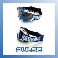Pulso asesino BMX Bicicleta de Montaña MTB Gafas-Azul y blanca con Espejadas Lentes