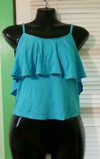NWT Light Blue Crop Top Women Sizes L and 3X.