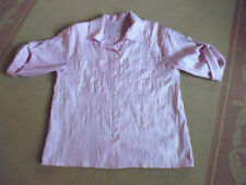 LADIES GORGEOUS PINK CRINKLED LOOK SHINEY SHORT SLEEVE TOP - NO BRAND SIZE 16/18