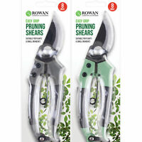 "8"" Garden Pruning Shears Easy Grip Carbon Strong Steel Secateurs Plant Tool"