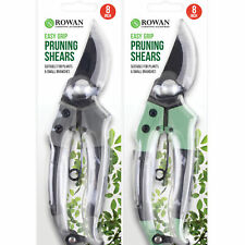 """8"""" Garden Pruning Shears Easy Grip Carbon Strong Steel Secateurs Plant Tool"""