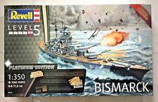 Revell 1/350 WW II German Battleship Bismarck Platinum Edition Kit # 05144 F/S