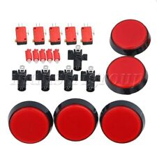 5pcs Red 60mm Arcade Video Game Player Push Button for Arcade Gaming Player