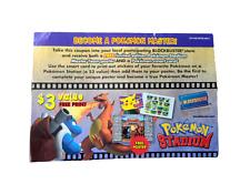 Pokemon RARE Stadium Blockbuster Coupon Promotion Master Team Poster Smart Card