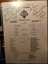 More details for dr who the ultimate adventure 24 may 1989 autographed programme & bundle unique!
