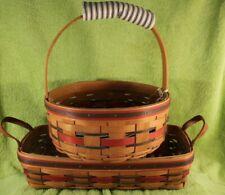 Set Of Longaberger Crisco American Baking Baskets Bread & Cookie