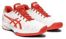 Asics Women's Solution Speed Ff Tennis Shoes, White/Fiery Red, 9 Women Us
