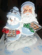 "Encore Snow Buddies ""Blizzy Gingerbread Xmas"" Figure Christmas With Santa W Box"