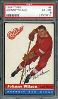 1954-55 TOPPS #4 JOHNNY WILSON PSA 6 RED WINGS  *DS9203