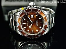 Invicta Men's 43mm Pro Diver SUBMARINER Brown Dial Silver Tone 200m SS Watch