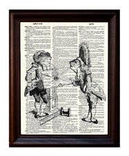 Frog Mail - Dictionary Art Print Printed On Authentic Vintage Dictionary Book