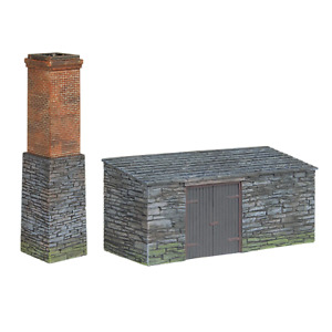 Bachmann 44-0106 OO-9 Gauge Slate Built Boiler House and Chimney