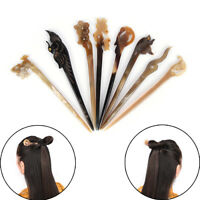 Classic Hand Polished Horn Stick Hair Pin Stick Original Retro Women LadyLAG LL