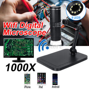 Digital Microscope Magnifier Wireless WiFi 1000X For IOS iPhone/Android w/