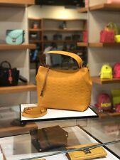 MCM Klara Monogrammed Leather Hobo Bag  (Mango Golden) RETAIL $765