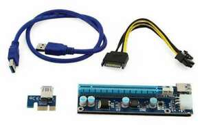 PCI-E Riser Card 1X to 16X USB 3.0 GFX MODEL : PCE164P-N03 Ver 006C