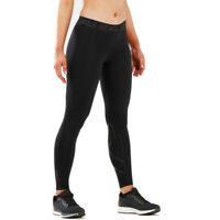 2XU Womens Thermal Compression Tights Bottoms Pants Trousers Black Sports