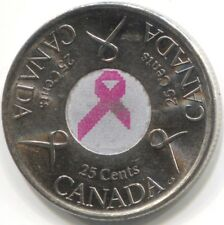 2006 CANADA 25 CENTS Coin - Breast Cancer Pink Ribbon