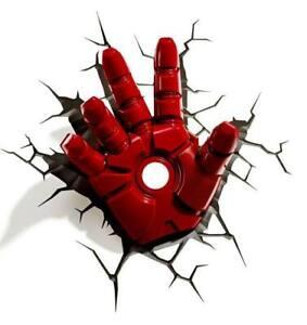3D Wall Art Marvel Iron Man Hand Nachtlicht Wandlampe Wand Leuchte