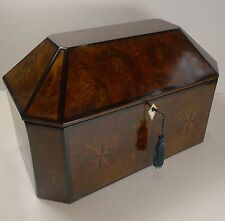 Magnificent Large French Inlaid Walnut Jewelry Box c.1820