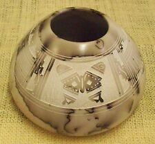 Native American Hand Etched Horsehair Pottery by Hilda Whitegoat Medium Pot